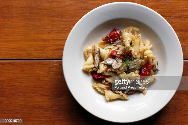 Green Plate Special Roasted tomato fennel and sardine pasta