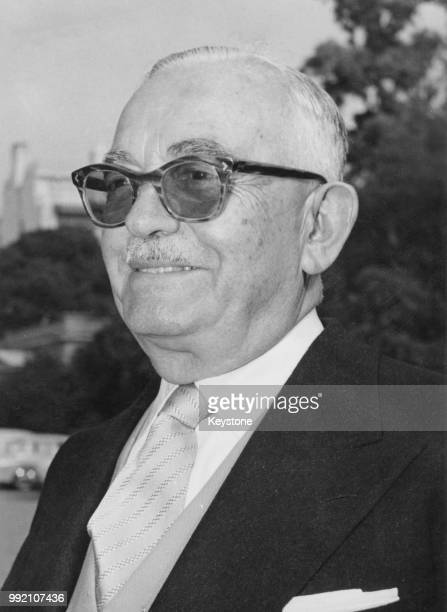 Green poet and politician Georgios Athanasiadis-Novas , the new Prime Minister of Greece, after his meeting with King Constantine of Greece, 17th...
