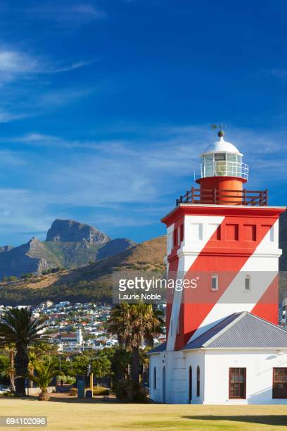 Green Point Lighthouse and Devil's Peak, Waterfront, Mouille Point, Cape Town, South Africa