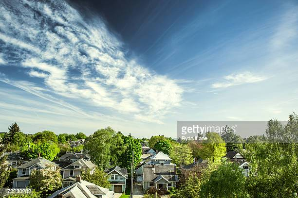 green portland homes - residential district stock pictures, royalty-free photos & images