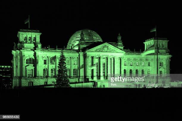 Green Reichstag building (filtered image - german parliament building) - Berlin, Germany