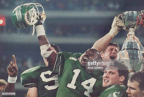 Green Revolution A heartstopping victory with two seconds left gave the Saskatchewan Roughriders their first Grey Cup since 1966 The hardfought 4340...