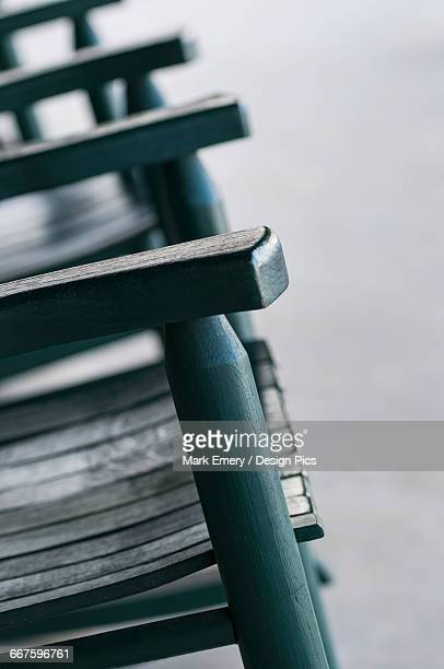 green rocking chairs - emery stock photos and pictures
