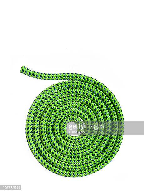 Green rope in a circular pattern