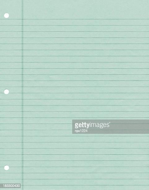 グリーンの業界紙に注意 - 線入り用紙 ストックフォトと画像