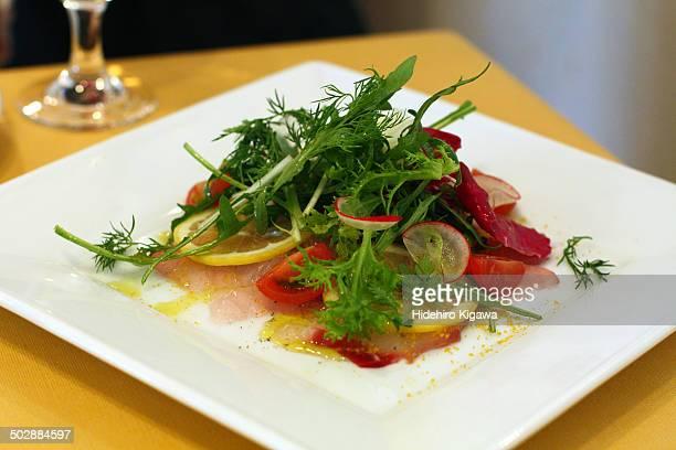 Green Salad with Carpaccio