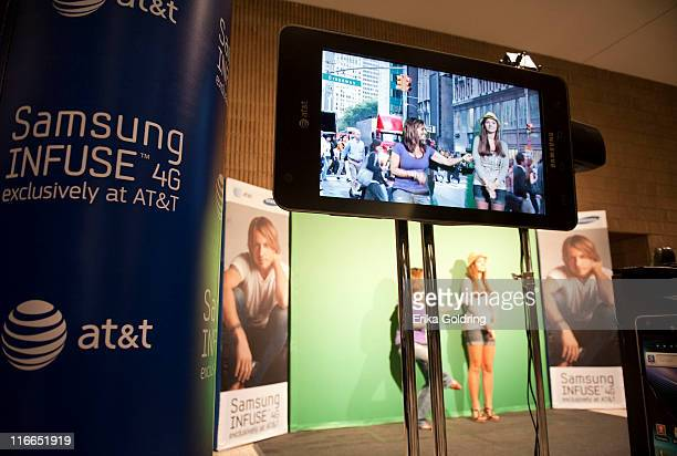 Green Screen area at ATT and Samsung's presenation of Keith Urban's Get Closer 2011 World Tour at Mississippi Coast Coliseum on June 16 2011 in...