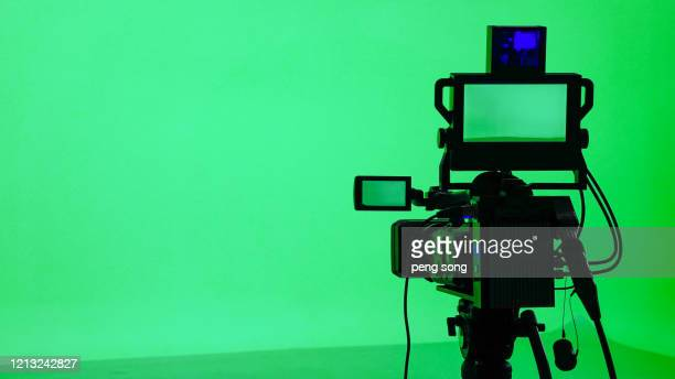 green screen keyer - movie camera stock pictures, royalty-free photos & images