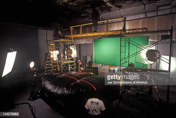 Green screen Scene from set of 'Temptation' feature film Miami FL
