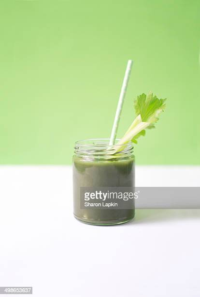 green smoothie - juice drink stock photos and pictures