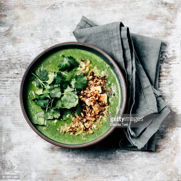green soup - dish towel stock pictures, royalty-free photos & images