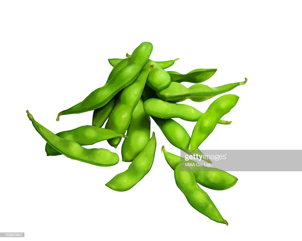 Green soybeans : Stock Photo