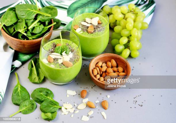 Green Spinach Smoothies, Fruits, Vegetables