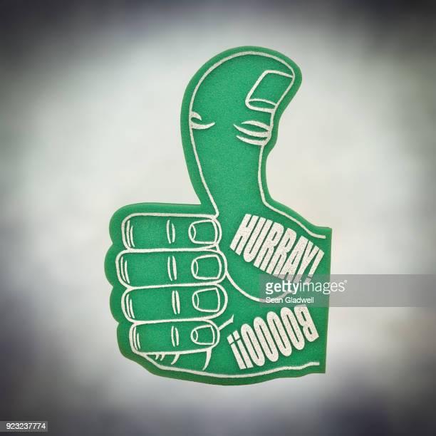 Green sponge hand