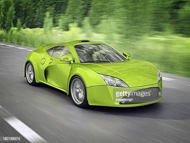 green supercar