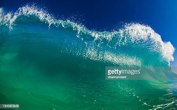 green surf - tsunami stock pictures, royalty-free photos & images