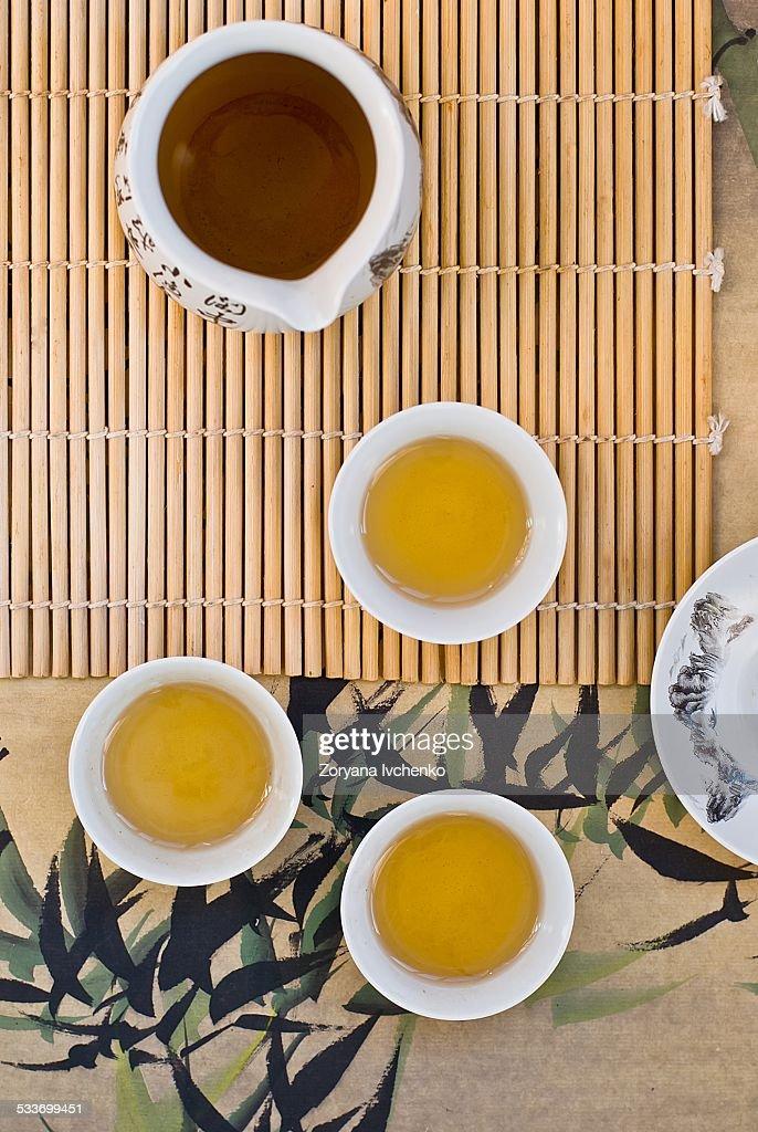 Green tea : Foto stock