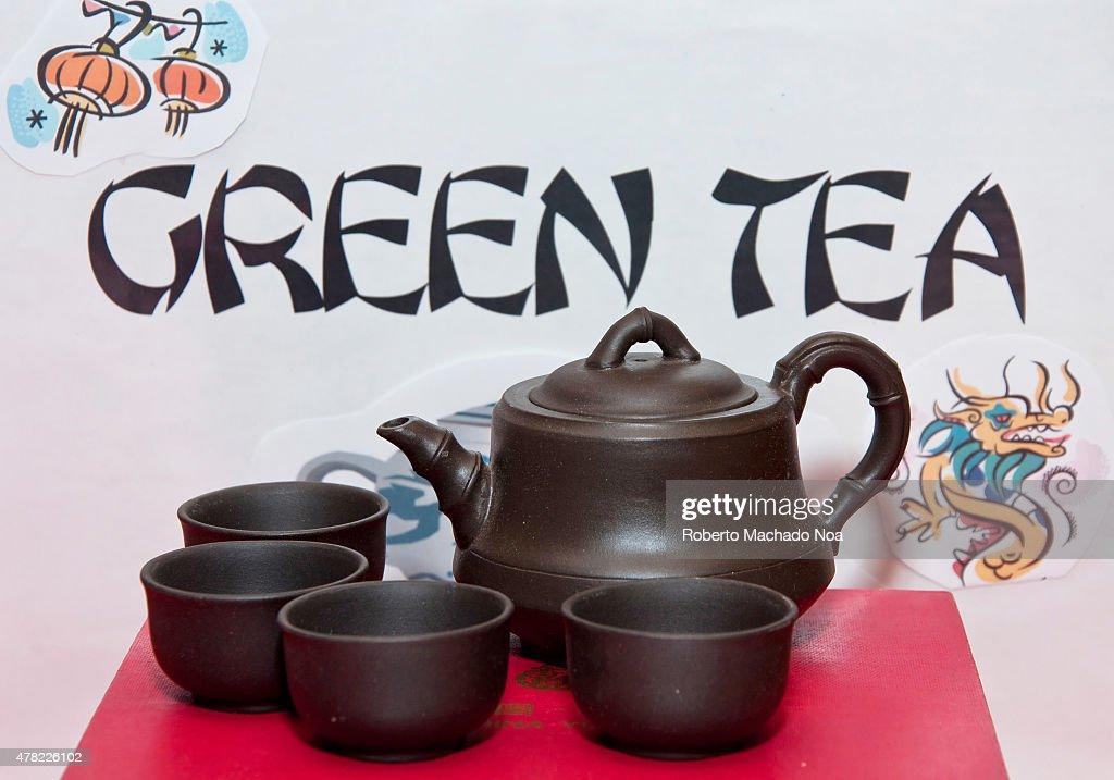 green tea serving set ancient metal cups and pot destined