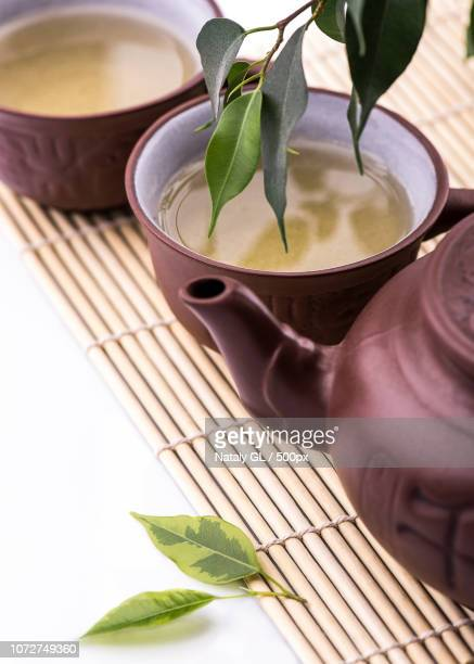 Green Tea Set Stock Pictures