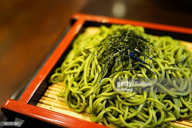 green tea soba - soba stock pictures, royalty-free photos & images