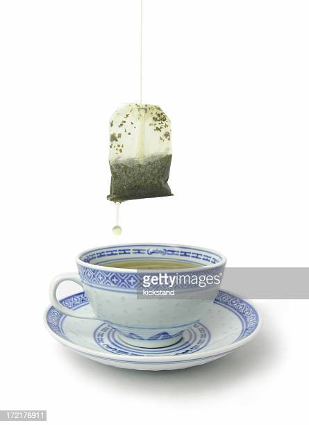 Green Tea with clipping path