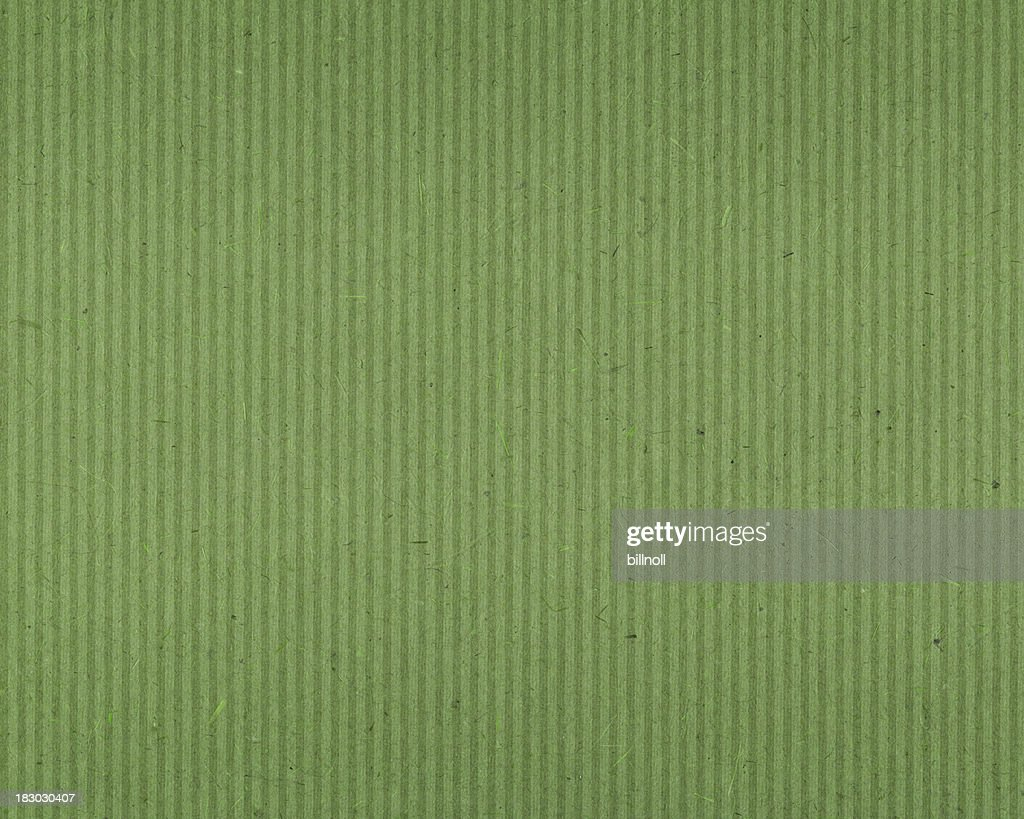 green textured paper with vertical lines : Stock Photo