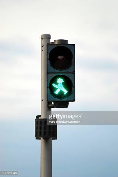 Green traffic light in Berlin