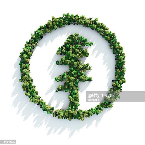 Grüner Baum-Symbol