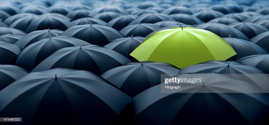Green umbrella : Stock Photo