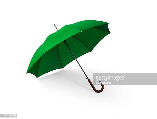 Grünen Regenschirm mit Clipping Path