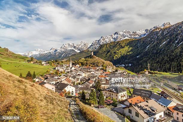 Green valley around Ardez Switzerland
