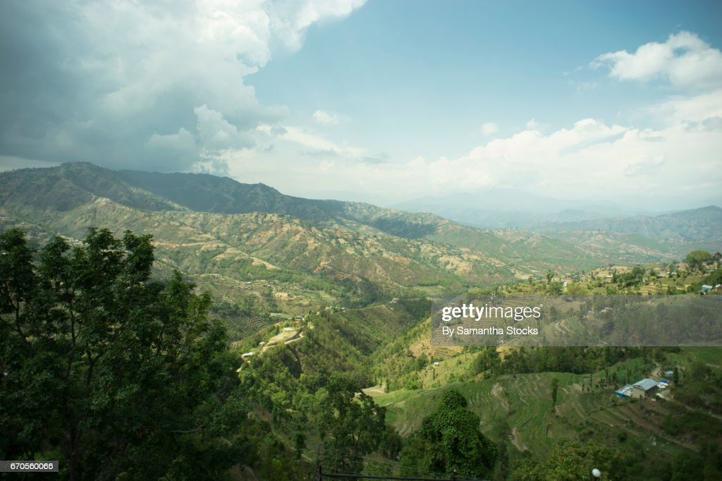 Green valley in Nepal : Stock Photo