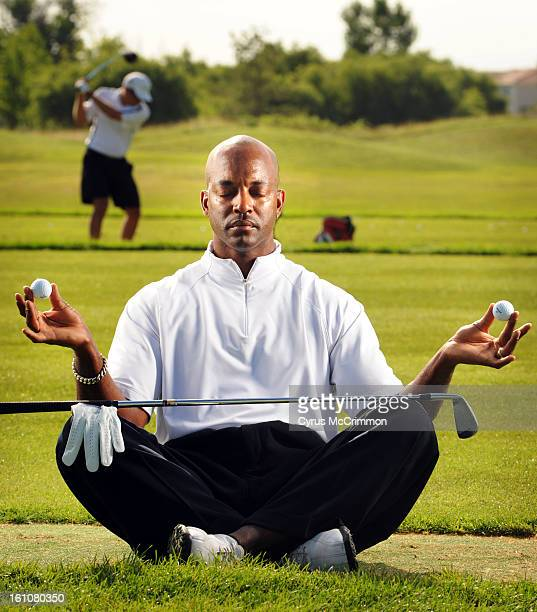Green Valley Ranch Golf Club assistant pro Steve Thomas illustrates the power of yoga and how it can help your golf game on Thursday August 14 2008...
