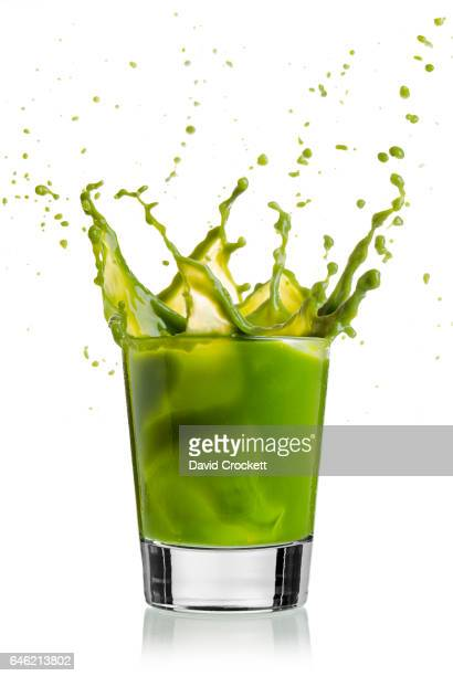 Green vegetable drink splash
