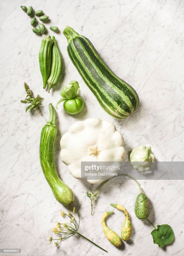 Green Vegetable Gradient Still Life : Stock Photo