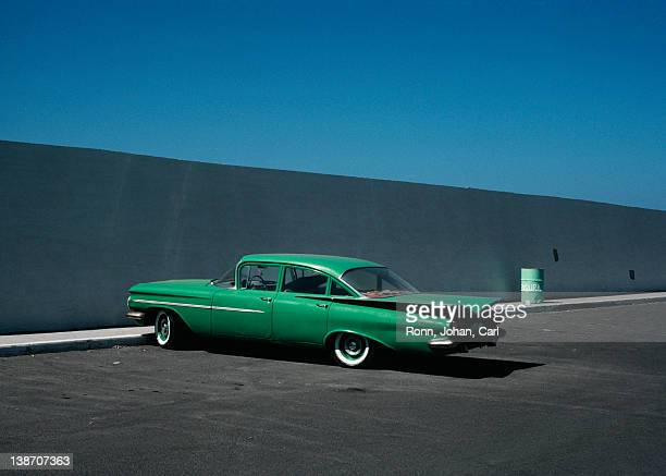 green vintage car - vintage car stock pictures, royalty-free photos & images