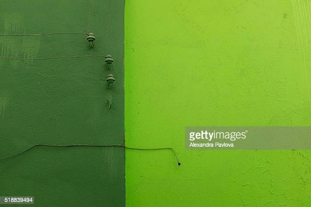 Green wall and wires