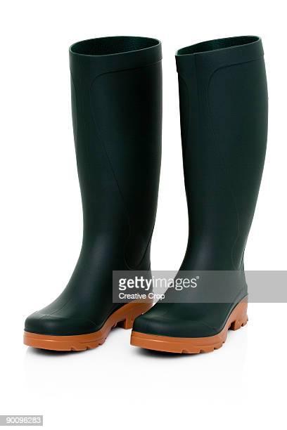 Green wellington Boot / rubber boots