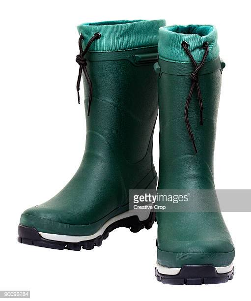 Green wellington boot / rubber boots