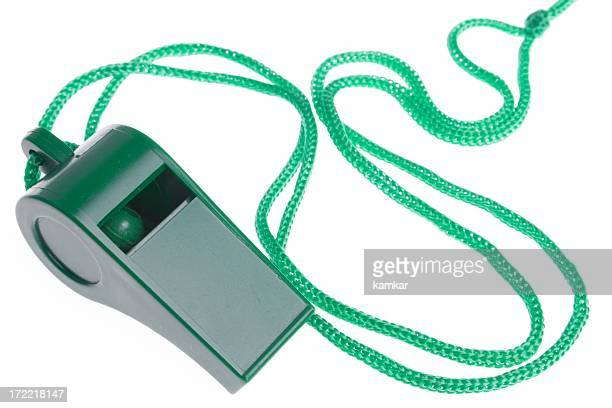 green whistle on white