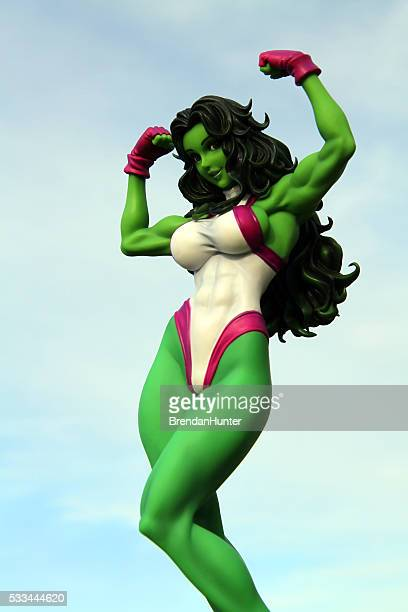 green woman - incredible hulk stock photos and pictures