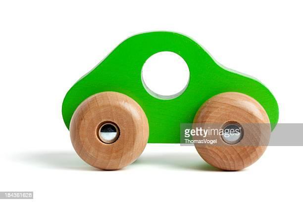 Voiture de Jouet en bois vert