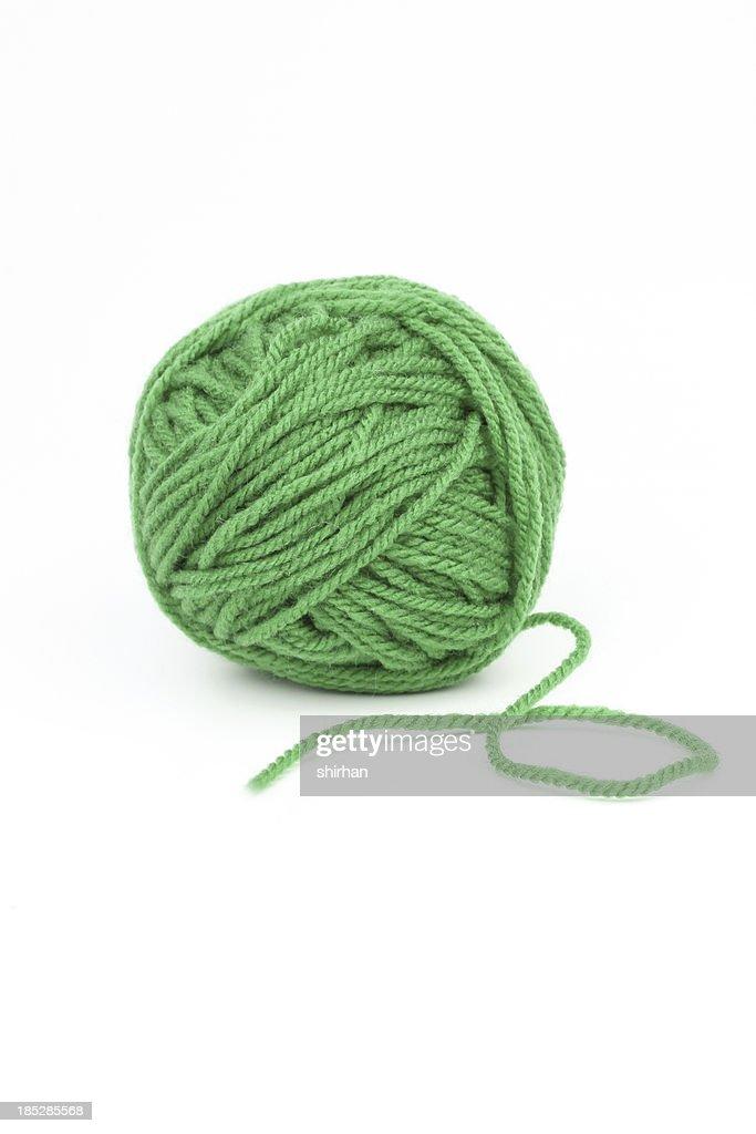 Green wool : Stock Photo