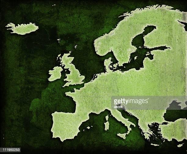 europe carte green world - carte france photos et images de collection