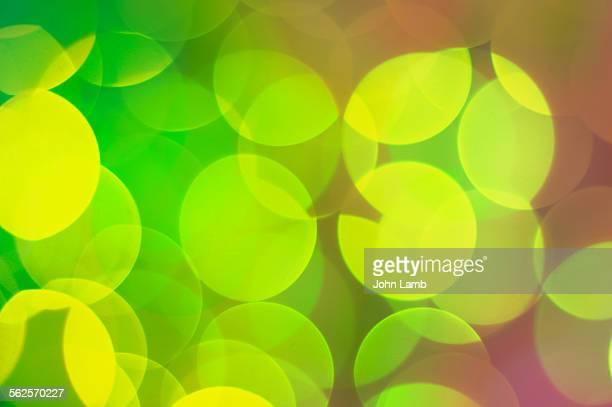 Green yellow bokeh
