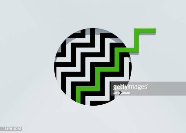 Green zigzag line