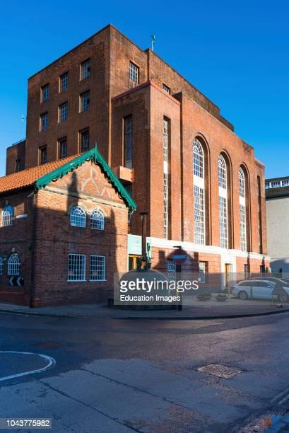 Greene King brewery, Westgate Street, Bury St Edmunds, Suffolk, England, UK.