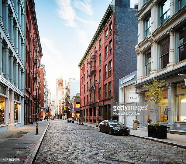 Greene street Soho Manhattan early morning