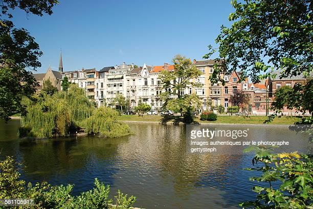 greenery in urban zone - région de bruxelles capitale photos et images de collection