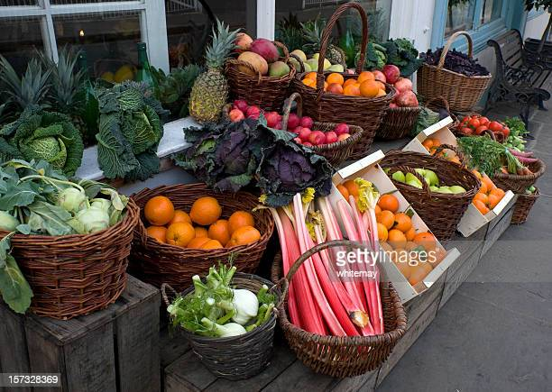 Greengrocer's display
